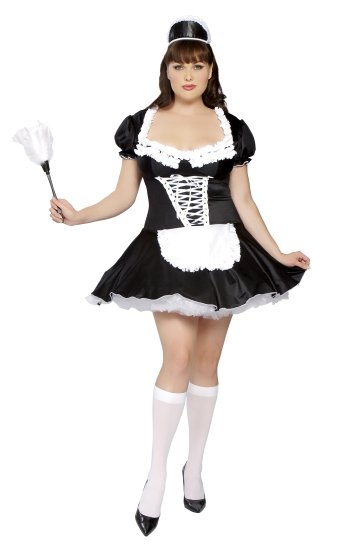 LC8181P Plus Size Late Nite Maid Outift