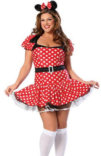 LC8114P Plus Size Miss Mouse Costume
