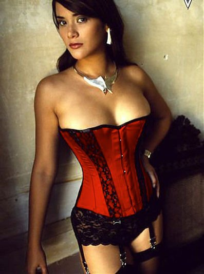 LC5034-2P Plus Size Corset With Matching Panty