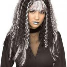 LC0120 Black with silver Witch Wig