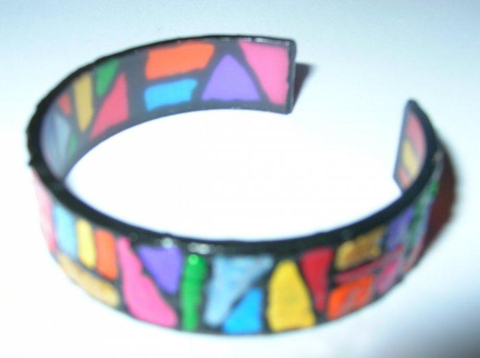 Zulu Style handpainted bracelet