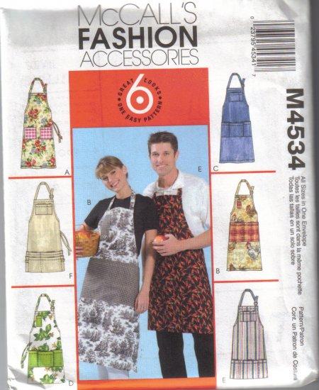 McCalls Fashion Accessories-Aprons