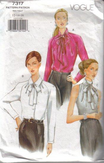 7317 Vogue Misses Loose Blouses