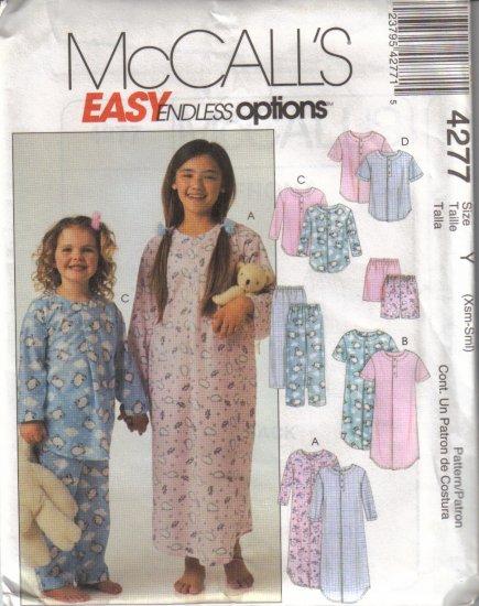 4277 McCalls Easy Endless Options-Childrens Sleepwear