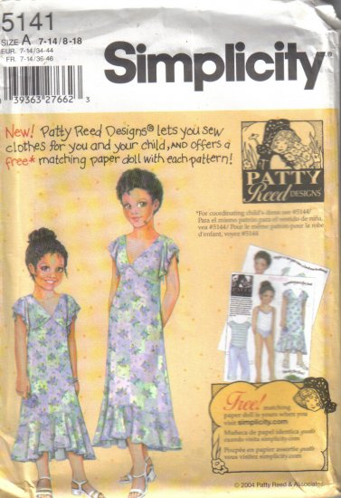 5141 Simplicity -Girls & Misses Dresses