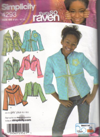 4293 Simplicity-Thats So Raven-Decorative Jackets