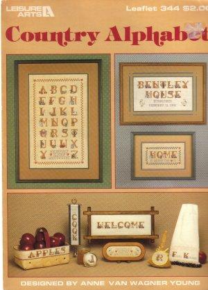 1985 Leisure Arts Country Alphabet Leaflet # 344