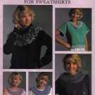 1987 Leisure Arts Knit Yokes For Sweatshirts