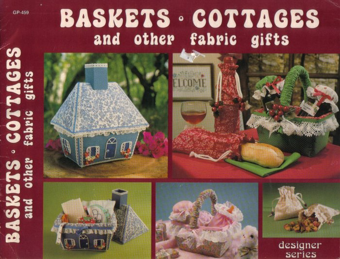 1981 Basket & Cottages and other Fabric Gifts