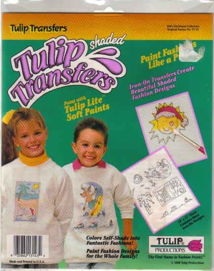 1990 Tulip Transfers-Kids Tropical Santa