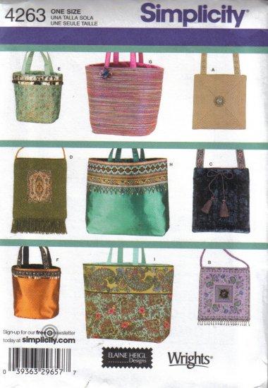 4263 Simplicity Elaine Heigl Designs-Bags
