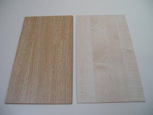 """Melamine Plastic MDF Board - Light Oak / Maple Woodgrain Pattern - 3 1/16""""  -  8mm Thick"""