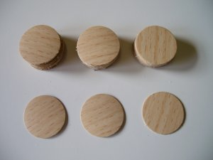 Screw Cover Caps-Beech - Melamine Screw Caps in colours to match melamine boards