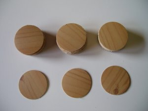 Screw Covers Antique Pine - Melamine Screw Caps in colours to match melamine boards