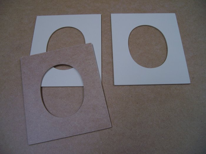 """Picture Frames Oval Shape x 3-MDF-Double Sided-6"""" x 5"""" x 1/8"""" (152mm x 127mm x 3mm)"""