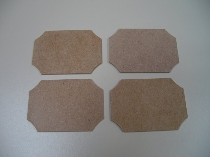 """Signs-Tags-Small x 6-MDF-Ready to Paint-Unfinished-3 1/4"""" x 2 5/16"""" x 1/8"""" (83mm x 59mm x 3mm)"""