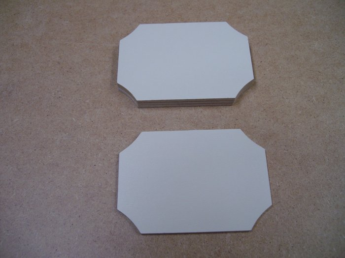 """Signs / Tags Miniture Double Sided x 6-MDF-3 1/4"""" x 2 5/16"""" x 1/8"""" thick  ( 83mm x 59mm x 3mm )"""