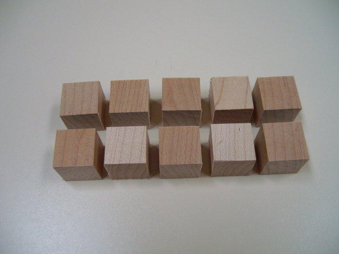"""3/4"""" Wood Cubes / Blocks/ Maple-3/4"""" x 3/4"""" x 3/4"""" ( 20mm x 20mm x 20mm )"""