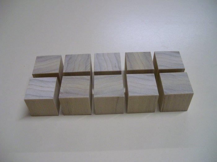 """Wood Cubes/Blocks/Poplar Wood/1"""" x 1"""" x 1"""" (25mm x 25mm x 25mm)"""
