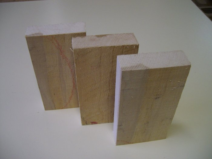 "Maple Blocks / Maple Blanks-Kiln Dried-6"" x 3"" x 1"" ( 152mm x 75mm x 25mm )"