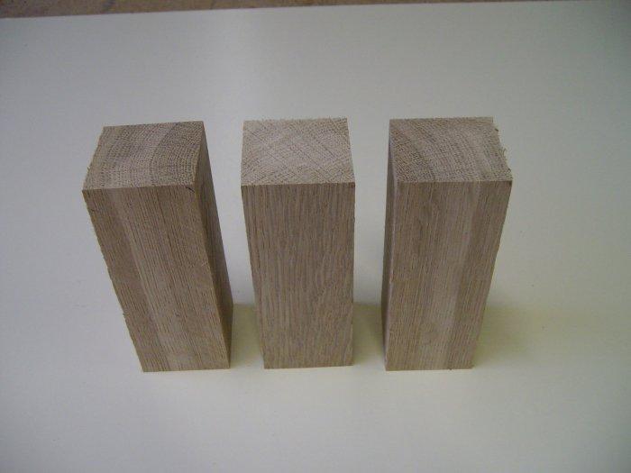 """Oak Blocks / Oak Blanks-Kiln Dried-5 1/4"""" x 2"""" x 2"""" ( 135mm x 50mm x 50mm )"""