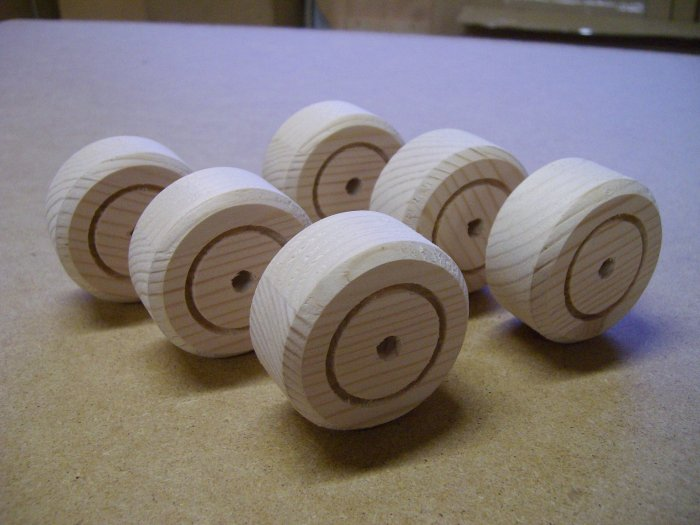 "Wooden Wheels /Timber Wheels/ Wheels For Models - 2  x 1""  ( 50mm x 25mm )"