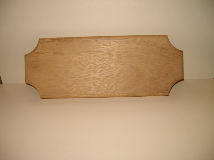 """Wooden Sign Iroko-House Sign-Name Board-11 3/4"""" x 4 1/2"""" x 3/4"""" (300mm x 114mm x 20mm)"""