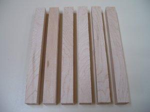 """Maple Pen Blanks - Long Pen Blanks - 7 7/8"""" x 3/4"""" x 3/4"""" ( 200mm x 20mm x 20mm )"""