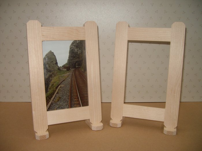 "Picture Frames Unfinished Maple / Rebated for Glass / 6"" x 4"" Photo size  ( 153mm x 102mm )"