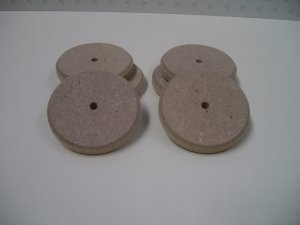 """Wooden Discs / Wooden Wheels / Wheels For Model / Chamfered - 2 15/16"""" x 1/2""""  ( 74mm x 12mm )"""