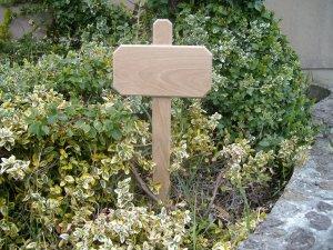 "Wooden Garden Sign/ Yard Sign Blank/Yard and Garden Sign-23 1/2"" High ( 600mm )"