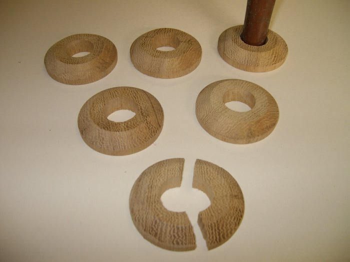 """Pipe Trimming Rings-Discs-Collars-Wooden Floor Trimmings- 1 3/4"""" x 3/8"""" ( 46mm x 10mm )"""