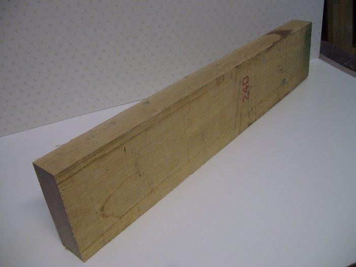 """Oak Wood/Block/Blank/Kiln Dried Oak-31"""" x 6 1/8"""" x 2 1/8"""" ( 790mm x 155mm x 55mm )"""