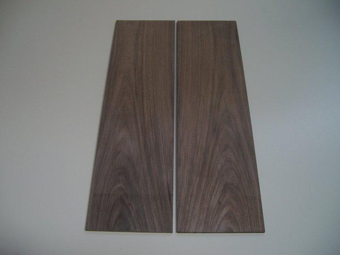"""Walnut Wood/Crafts/Blank/Bookmatched Wood-18 3/8"""" x 5 1/8"""" x 1/4"""" ( 465mm x 130mm x 6mm )"""