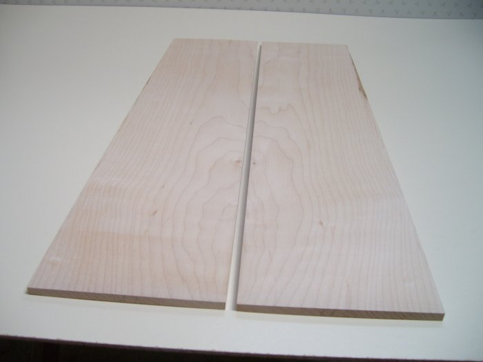 """Maple Wood/Crafts/Blank/Bookmatched Wood-21 1/2"""" x 5 1/8"""" x 5/16"""" ( 548mm x 130mm x 7mm )"""