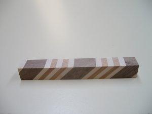 "Pen Blanks-Laminated-Walnut-Maple-Cherry-Pen Blanks - 6"" x 3/4"" x 3/4"" ( 153mm x 19mm x 19mm )"