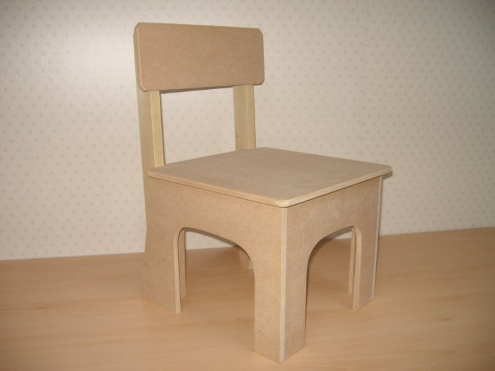 Unfinished childrens chair unfinished furniture kids 17 1 2 x 11 x 11 445mm x 280mm x 280mm Unfinished childrens bedroom furniture