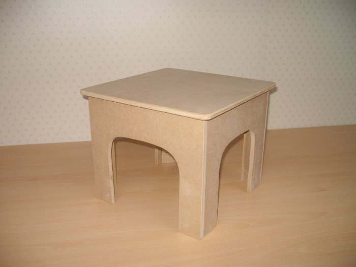 "Unfinished Childrens Stool/Unfinished Childrens Furniture -11"" x 11"" ( 280mm x 280mm )"