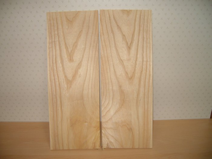 "Ash Boards Bookmatched/Guitar Boards/Bookmatched-19 7/8"" x 7 3/8"" x 5/16"" ( 505mm x 187mm x 7.5mm )"