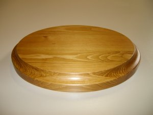 "Oval Base-Wood Base-Trophy Base-Pine Base- 8"" x 6"" x 15/16"" (203mm x 150mm x 24mm )"