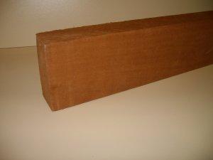 "Sapele Blank/Crafts/Blank/Mahogany Wood-16 1/2"" x 4 5/8"" x 2"" ( 420mm x 118mm x 50mm )"