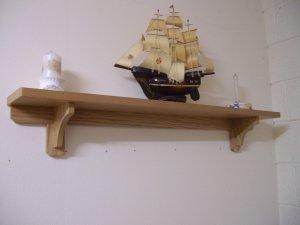 """Mantel Shelf with Brackets-Stove Shelf-MDF Shelf 48"""" x 7"""" x 1"""" (1220mm x 180mm x 25mm)"""