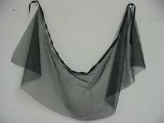 Black sheer wrap skirt