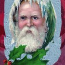 GREEN ROBE SANTA Antique Christmas Postcard Reproduction