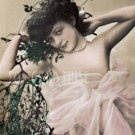 SEMI NUDE Lady Antique Risque Photo Postcard Reproduction