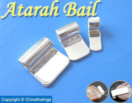 Atarah Tube Bails-Perfect for Glass Pendants and Scrabble Tiles