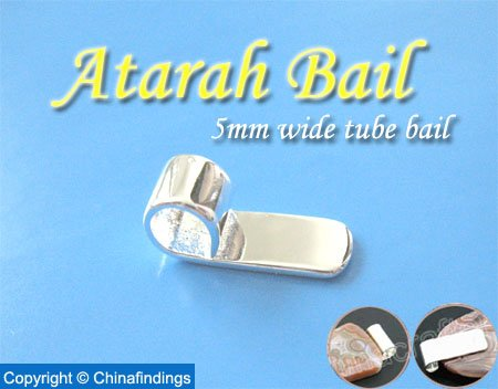 5mm wide Tube Bail-Perfect for Glass Pendants and Scrabble Tiles