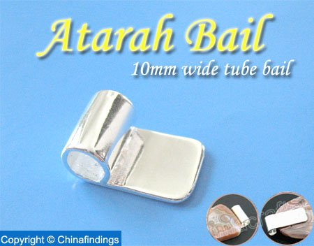 10mm wide Tube Bail-Perfect for Glass Pendants and Scrabble Tiles