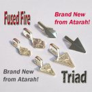 100pcs Atarah Fused Fire / Triad Bails in Small sized.