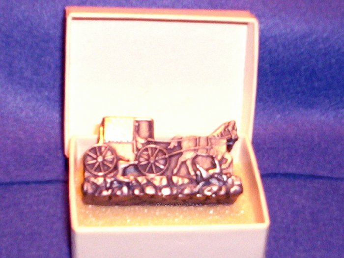 TORINO PEWTER HORSE/BUGGY POST EARRINGS/BROOCH & NECKLACE SET: